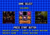 Mega Games 6 Vol. 1 Genesis Game selection screen 2