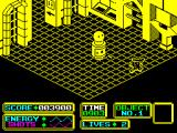 Bomb Scare ZX Spectrum ARNOLD can shoot the aliens as well as run them over