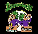 Lemmings & Oh No! More Lemmings Game Boy Color Main Menu