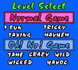Lemmings Game Boy Color Level Select