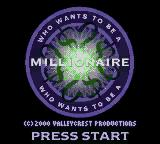 Who Wants to Be a Millionaire: 2nd Edition Game Boy Color Title Screen