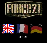 Force 21 Game Boy Color Language selection screen