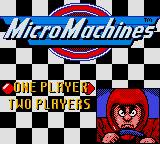 Micro Machines 1 and 2: Twin Turbo Game Boy Color Main Menu