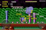 Sonic the Hedgehog iPhone Completing Spring Yard Zone stage 2.