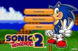 Sonic the Hedgehog 2 iPhone Game menu.