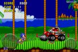 Sonic the Hedgehog 2 iPhone Robotnik has a new set of wheels... stage 1 act 2 boss.