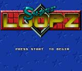 Super Loopz SNES Title Screen