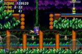 Sonic the Hedgehog 2 iPhone Hanging from a vine. Stage 6: Mystic Cave Zone.