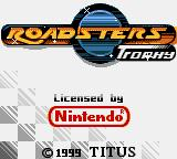 Roadsters Game Boy Color Title Screen