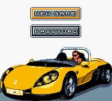 Roadsters Game Boy Color Main Menu