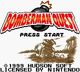 Bomberman Quest Game Boy Color Title Screen