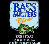 Bass Masters Classic Game Boy Color Title Screen
