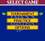 Bass Masters Classic Game Boy Color Main Menu