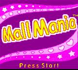 Diva Starz: Mall Mania Game Boy Color Title Screen