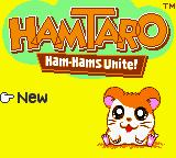 Hamtaro: Ham-Hams Unite! Game Boy Color Main Menu