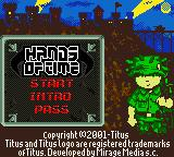 Hands of Time Game Boy Color Main Menu