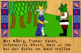 Shrek 2: Beg for Mercy! Game Boy Advance Cut-scene: Th king asked Shrek to meet him somewhere in the forest.