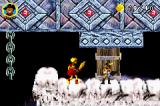 Shrek 2: Beg for Mercy! Game Boy Advance Fighting a golden skeleton.