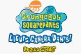 SpongeBob SquarePants: Lights, Camera, Pants! Game Boy Advance Title screen