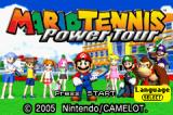 Mario Tennis: Power Tour Game Boy Advance Title screen