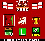 UEFA 2000 Game Boy Color Main Menu