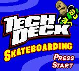 Tech Deck Skateboarding Game Boy Color Title Screen