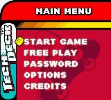 Tech Deck Skateboarding Game Boy Color Main Menu