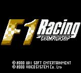 F1 Racing Championship Game Boy Color Title shown in intro sequence
