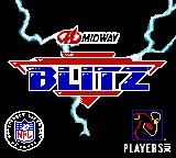 NFL Blitz Game Boy Color Title shown in intro sequence