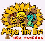 Maya the Bee & Her Friends Game Boy Color Title Screen