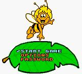 Maya the Bee & Her Friends Game Boy Color Main Menu