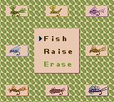 Legend of the River King GB Game Boy Color Main Menu
