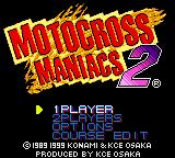 Motocross Maniacs 2 Game Boy Color Main Menu