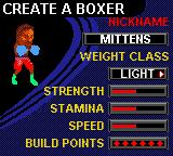 Knockout Kings Game Boy Color In career mode you have to create your own boxer