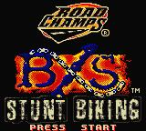 Road Champs: BXS Stunt Biking Game Boy Color Title Screen