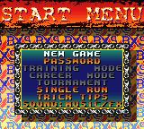 Road Champs: BXS Stunt Biking Game Boy Color Main Menu