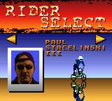 Road Champs: BXS Stunt Biking Game Boy Color Select Rider
