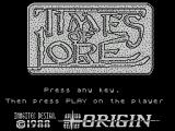 Times of Lore ZX Spectrum Load screen - this and the story-boards are only displayed on the 'character generation' side of the tape