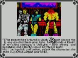 Times of Lore ZX Spectrum The ninth screen is the character selection screen