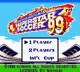 International Superstar Soccer 99 Game Boy Color Title screen/Main menu
