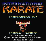 International Karate 2000 Game Boy Color Title Screen
