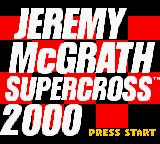 Jeremy McGrath Supercross 2000  Game Boy Color Title Screen