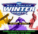 Millennium Winter Sports Game Boy Color Title Screen