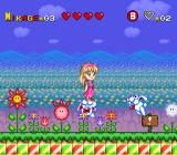 Miracle Girls: Tomomi to Mikage no Miracle World Adventure SNES Feasting enemies make good platforms, for a little while anyways.