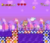 Miracle Girls: Tomomi to Mikage no Miracle World Adventure SNES The skies are ruled by cat-lumps.