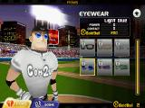 Homerun Battle 3D Android The player can customize his slugger with different items, here glasses