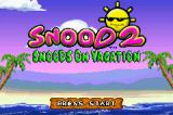 Snood 2: On Vacation Game Boy Advance Title screen