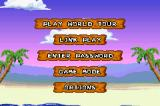 Snood 2: On Vacation Game Boy Advance Main menu