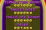 Snood 2: On Vacation Game Boy Advance Level statistics