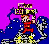 Spirou: The Robot Invasion Game Boy Color Title Screen